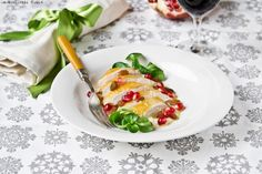 Guinea fowl breast salad with almonds and pomegranate