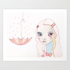 Don't Rain on my Parade Art Print by Darcy Allan - $15.00