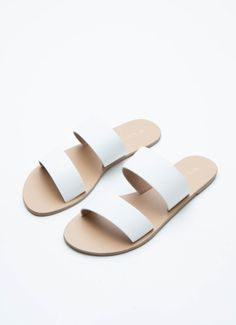 Cuban Sandal - White Pebble [Follow us: @Peppermayo for more cuteness and daily fashion inspo.]