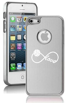 Apple iPhone 5 Aluminum Plated Chrome Hard Back Case Cover Infinite Infinity Love for Volleyball (Silver) Volleyball Outfits, Volleyball Gifts, Volleyball Pictures, Volleyball Practice, Volleyball Bedroom, Beach Volleyball, Ipod Touch Cases, Cute Phone Cases, Iphone Cases