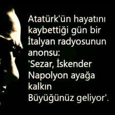 Sonsuz Özlemle #atatürkbirfikirdir!
