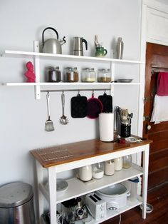 ikea värde wall shelf with 5 hooks
