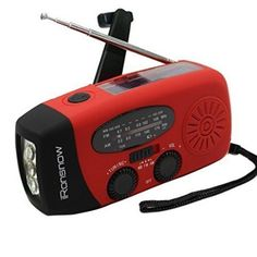 iRonsnow IS-088 Dynamo Emergency Solar Hand Crank Self Powered AM/FM/NOAA Weather Radio, LED Flashlight, Smart Phone Charger Power Bank with Cables, 2016 Amazon Most Gifted Portable Audio & Video  #Electronics