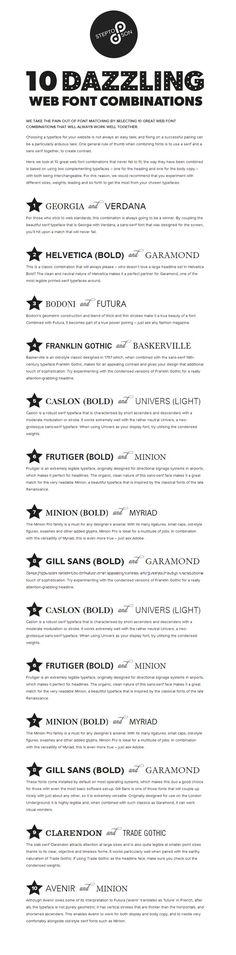 10 great web font combinations