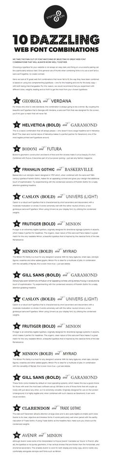 10 Great Web Font Combinations for Your Resume
