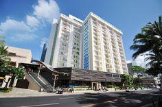 Exterior of Hokulani Waikiki by Hilton Grand Vacations Club in Honolulu, Hawaii