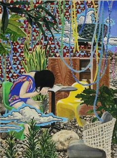Wonderfully detailed paintings by Japanese artist Naomi Okubo. More images of Okubo's work below! Naomi Okubo's Website Art Et Illustration, Illustrations, Art Amour, Detailed Paintings, Art Japonais, Inspiration Art, A Level Art, Sketch Painting, Japanese Artists