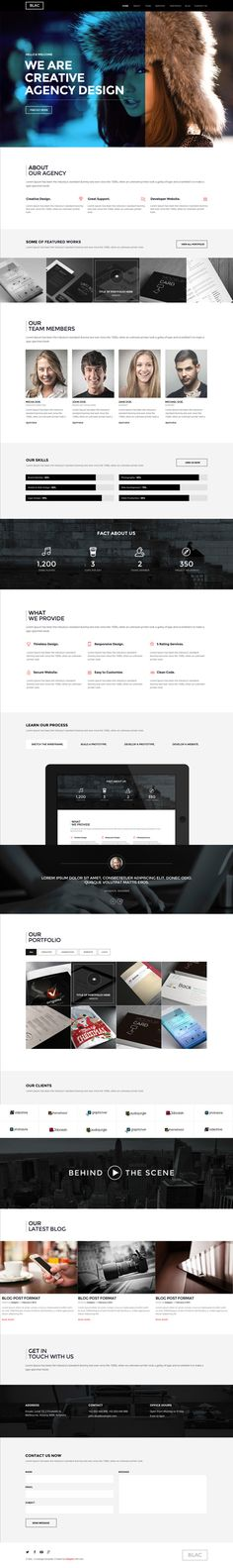 Buy Blac - Ultimate Simple One Page PSD Template by galigato on ThemeForest. Blac is a Ultimate Simple One Page PSD Template. Consist of 9 PSD Template and based 1170 px grid system, very easy t. Mobile Web Design, Web Ui Design, Page Design, Graphic Design, Website Design Inspiration, Web Layout, Layout Design, Maquette Site Web, Web Design Projects