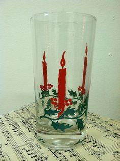 Beautiful vintage Holiday highball glases  by PurpleIrisVintage, $32.00