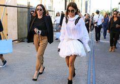 #StreetStyle  #FashionWeek  #AustraliaFashionWeek  Edwina McCann and Christine Centenera