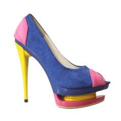 $21.65 Fashion Women's Pumps With Color Matching Peep Toes Design