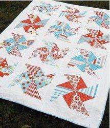 Pretty Pinwheel Quilt   AllFreeSewing.com
