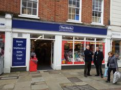 The Works in North Street, #Chichester. Discount book, art materials, kids toys, stationary shop.