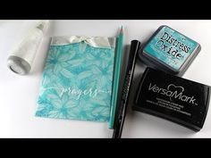 Stamp a Floral Patterned Vellum Card - YouTube