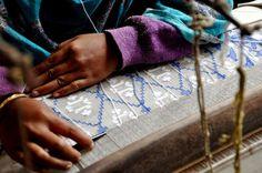 jamdani weaving, work in progress