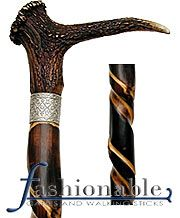 Lowest Price on Stag Horn Walking Cane With Spiral Carved Chestnut Shaft and Silver Collar. Hand Carved Walking Sticks, Walking Sticks And Canes, Walking Canes, Green Woodworking, Woodworking Ideas, Love Stick, Wood Carving Faces, Antler Crafts, Cane Handles