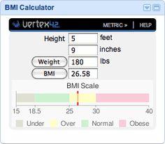 BMI Calculator Gadget