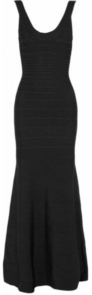 Hervé Léger - Bandage Gown - Black Bandage, Herve, Gowns, Stylish, Fabric, Black, Dresses, Women, Fashion