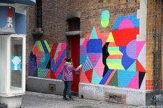 Colorful urban art murals colors street artist Maya Hayuk