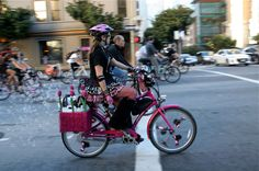Bubbling disco bike at San Francisco Critical Mass Aug 30 © Miikka Järvinen San Francisco, Bike, Photos, Bicycle, Pictures, Bicycles