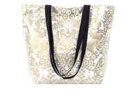Large Gold Toile Reversible Oilcloth Totebag
