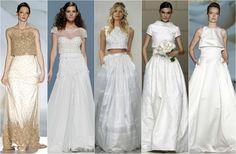 Tendencias de novia 2015: Los nuevos largos