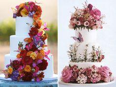 21 de bolos com borboletas para a festa de 15 anos - Constance Zahn | 15 anos Bolo Laura, Dream Wedding, Floral Wreath, Wreaths, Table Decorations, Butterfly Cakes, Sweet 15, Cake Ideas, Amanda