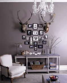 love this greyish purple colour and the whole feel of this room