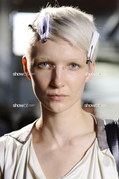 Janice Alida at Givenchy Men SS/2013 backstage