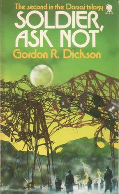 Soldier Ask Not - sci fi book cover art