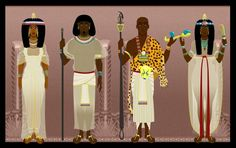Nubian Egyptian Queens and High Priest