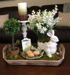 Looking for the best Spring & Easter Decor Ideas. Here are the cutest & fresh DIY Spring and Easter Decorations ideas including centerpieces, Mantle & craft Spring Home Decor, Spring Crafts, Easter Table Decorations, Easter Centerpiece, Spring Decorations, Coffee Table Decorations, Table Centerpieces For Home, Centerpiece Ideas, Valentine Decorations