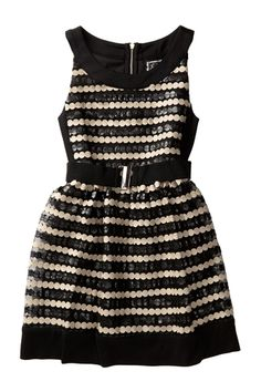 Dotted Stripe Party Dress (Little Girls & Big Girls) from HauteLook on shop.CatalogSpree.com, your personal digital mall.