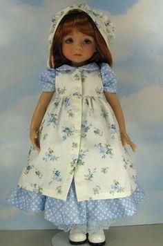 """Dianna Effner13"""" Little Darlings OOAK Outfit ~Blue Prairie~ by Janet"""