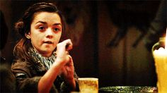 Arya Stark in Game of Thrones, Maisie Williams at comiccon