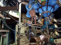 Indoor spinning coaster Winjas (actually two separate tracks) at Phantasialand, Germany