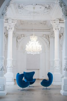 Hotel Tip: Motel One At The Vienna Opera  Egg (Glove) Chairs available at LexMod.com #arnejacobsen