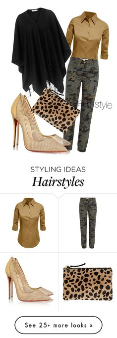 """""""Untitled #131"""" by mama-liciuos on Polyvore featuring LE3NO, Veronica Beard, Christian Louboutin, L.K.Bennett and Clare V."""