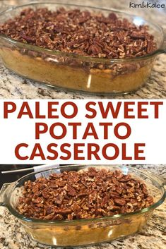 Perfect for Thanksgiving & Christmas our Paleo Sweet Potato Casserole will be a family & friend's favorite for the holidays! Paleo Sweet Potato Casserole, Sweet Potato Pecan, Easy Casserole Recipes, Bean Casserole, Healthy Dinner Recipes, Paleo Recipes, Great Recipes, Favorite Recipes, Yummy Recipes