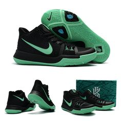 "February 17,2017 Shoes Nike Womens Kyrie 3 ""Mint"" Black Blue"