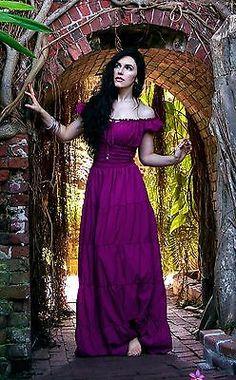 I-D-D Renaissance Chemise Medieval Peasant Wench Pirate Boho Hippie Sun Dress