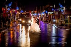 Kitchener Christmas downtown wedding at night Kitchener Ontario, Terrace Hotel, Rainy Night, Old World Style, Hotel Wedding, Wedding Photos, Weddings, Gallery, Pictures