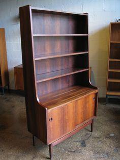 Danish modern, midcentury modern, shelf, hutch, Brazilian rosewood, house porn
