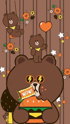 Brown Line Friend ••• HE  ( Ốp ĐT)