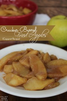 Copycat Cracker Barrel Fried Apples Recipe! This is a great Holiday Recipe for Christmas and New Years!