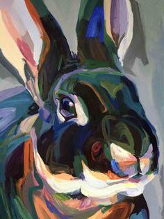 Bunny Painting, Painting & Drawing, Painting Inspiration, Art Inspo, Bug Art, Deer Art, Rabbit Art, Abstract Animals, Impressionist Art