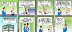 The Dilbert Strip for August 4, 2013 - How did your call go?
