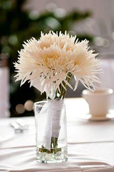 Spider mum bouquet, bridesmaids - - - spider mums & green plant things