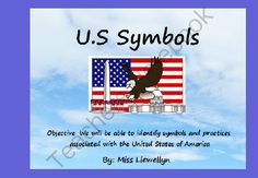 United States Symbols from Little Miss Megan on TeachersNotebook.com -  (16 pages)  - Flipchart to be used in connection with Kinder/1st unit on United States symbols (includes flag, bald eagle, Mt Rushmore and Statue of LIberty).