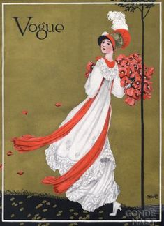 Vintage Vogue magazine covers - mylusciouslife.com - August 1 1911 - vintage cover of Vogue.jpg